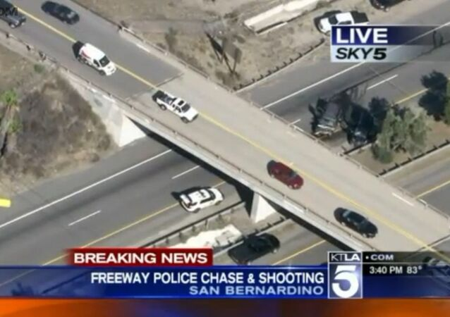 A car chase turned deadly in Northern San Bernardino on Friday, when police shot and killed their suspect from a chopper.