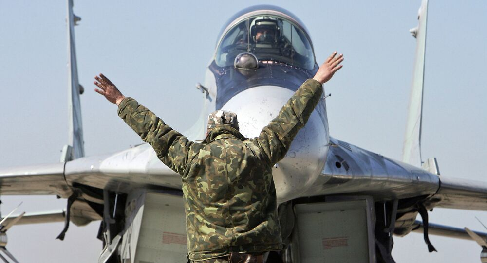 Russia's A-50 early-warning and guiding aircraft has landed at an air base near Minsk