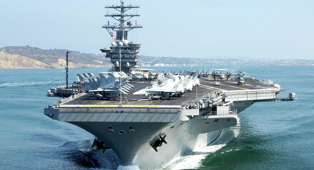 The aircraft carrier USS Nimitz