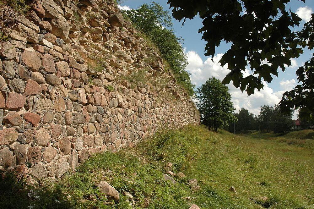South wall of the Gdov Kremlin