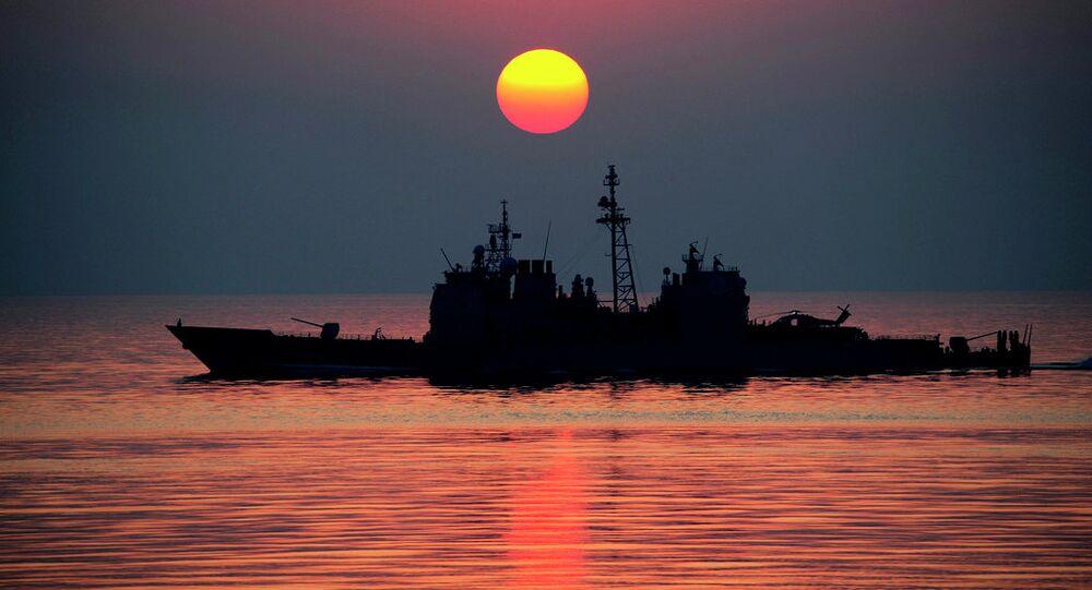 Ticonderoga class guided-missile cruiser USS Mobile Bay (CG 53)