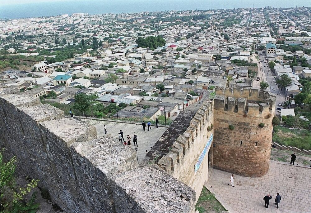 A view of the city of Derbent from the ancient Naryn Kala Fortress.