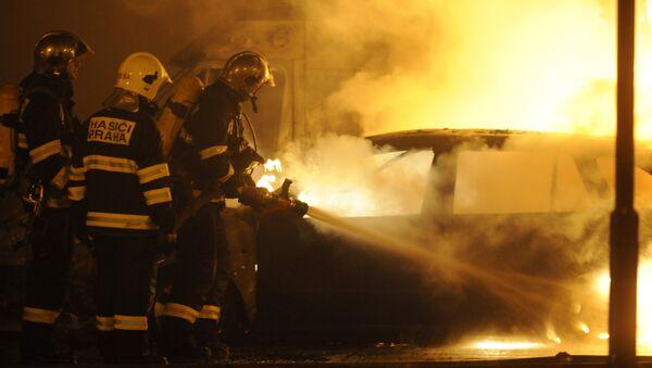 Czech firemen. File photo - Sputnik International