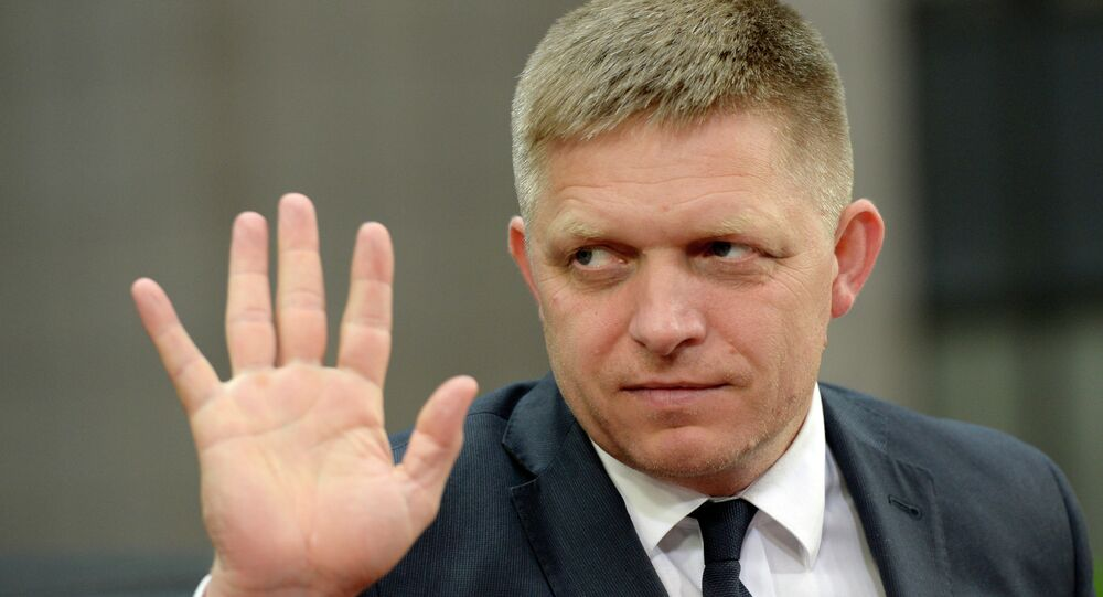 Slovakia's Prime minister Robert Fico arrives for an emergency Eurogroup finance ministers' meeting on Greece at the European Council in Brussels, on June 22, 2015