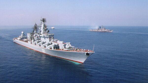 The Moskva missile cruiser of the Guards - Sputnik International