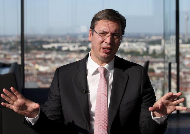Serbian Prime Minister Aleksandar Vucic (file)
