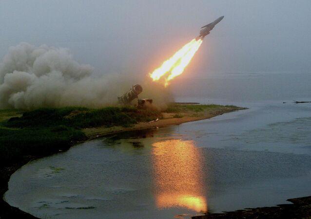 Launch of coastal rocket complex Redut