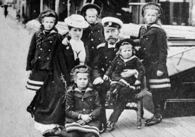 Nicholas II (third from right), the last Russian emperor, with his family