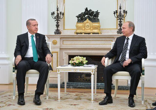 President Vladimir Putin meets with President of Turkey Recep Erdogan