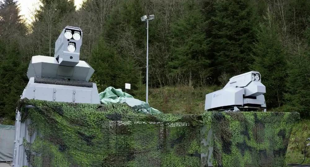 HEL - Rheinmetall's high-energy laser effectors on wheels (Rheinmetall)