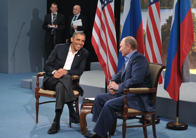 Russian President Vladimir Putin, right, and U.S. President Barack Obama