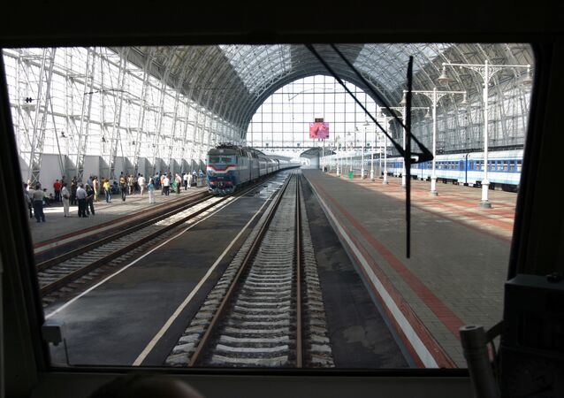Kievsky railway station in Moscow