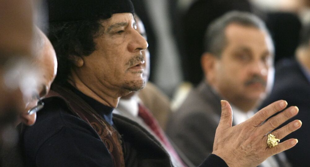 Muammar Gaddafi. File photo