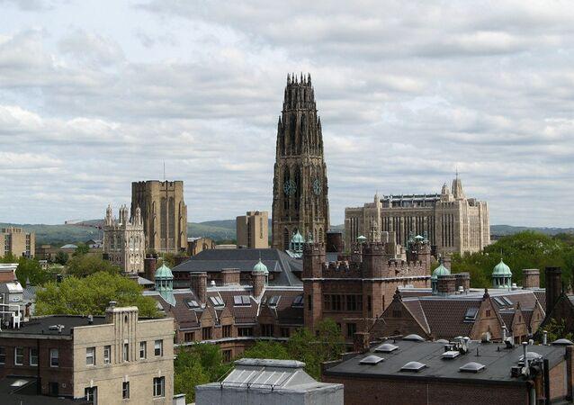Yale University skyline, New Haven, Connecticut