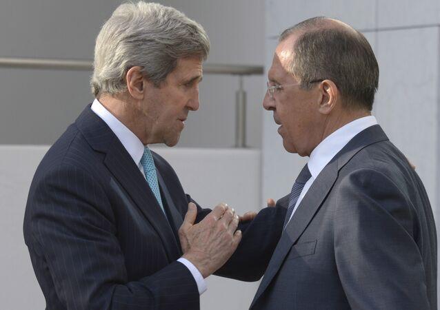 Sergei Lavrov with John Kerry