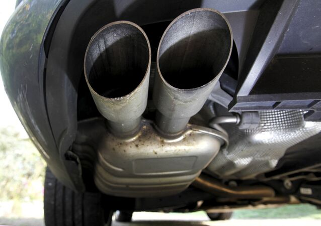The exhaust system of a Volkswagen Passat TDI