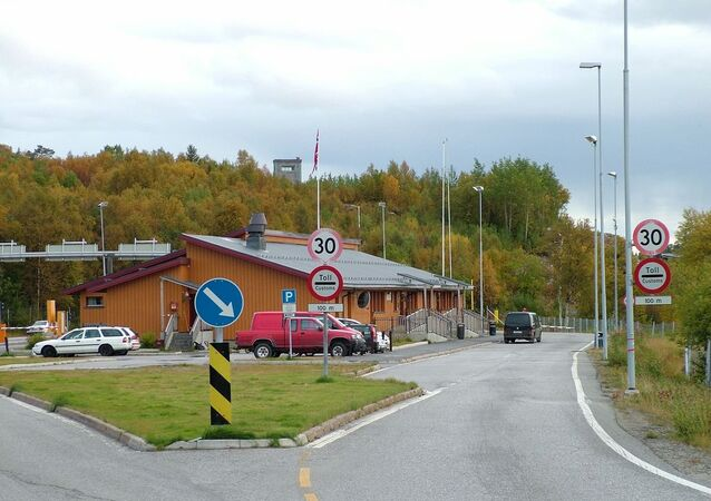 At Storskog, the Norwegian-Russian border with the border crossing station