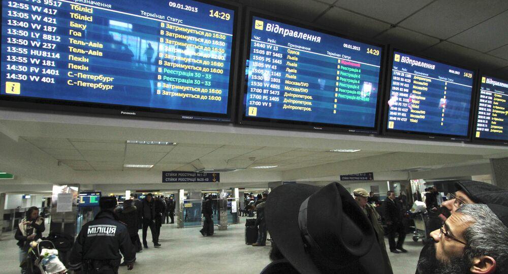 Passengers at Borispol airport waiting for departure. File photo