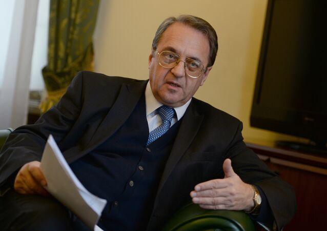Russian Deputy Foreign Minister Mikhail Bogdanov. (File)