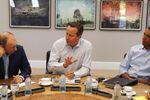 From left, Russian President Vladimir Putin, Britain's Prime Minister David Cameron and US President Barack Obama.
