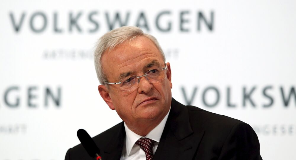 Volkswagen Chief Executive Martin Winterkorn speaks at the annual news conference of Volkswagen in Berlin, in this file picture taken March 12, 2015