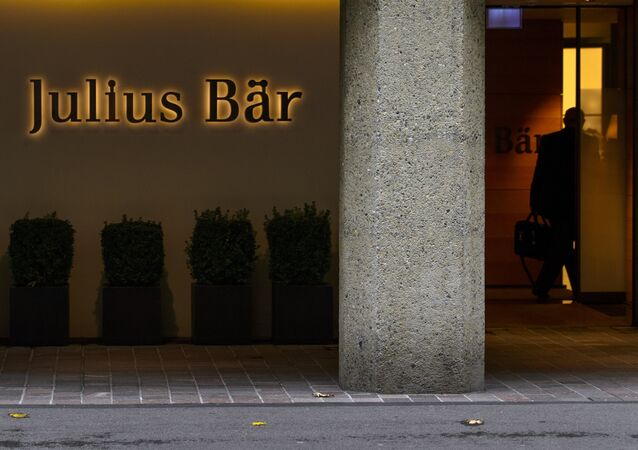 A man enters the Swiss private banking group Julius Baer headquarters on September 24, 2012 in Zurich