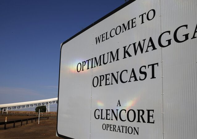 An entrance to the Optimum Kwagga coal mine owned by Glencore is seen near Hendrina in Mpumalanga province, September 8 2015