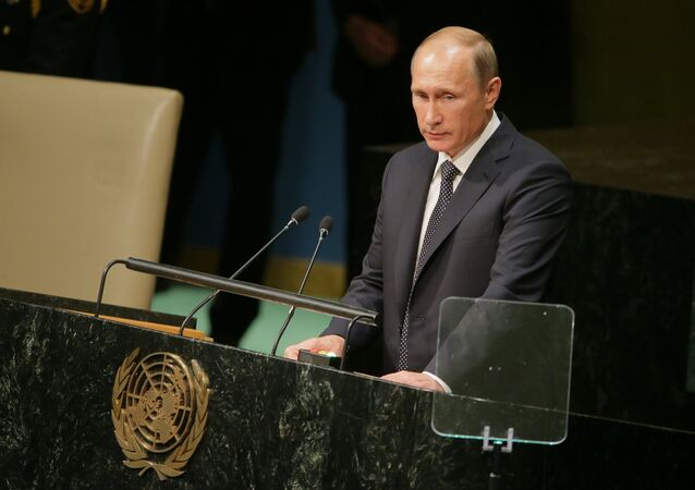 Russian President V.Putin takes part in UN General Assembly's 70th session