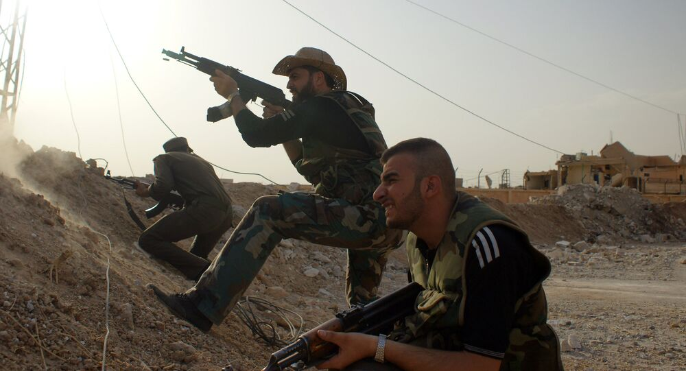 Syrian military and militias are fighting ISIS militants on the outskirts of Al-Hasakah in eastern Syria