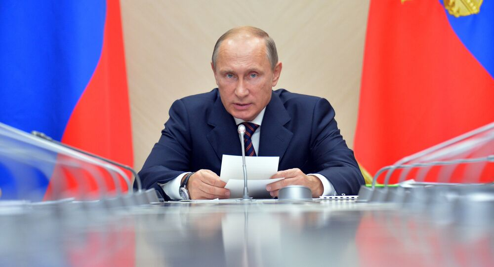 President Vadimir Putin holds a meeting on microelectronics development