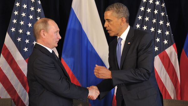 Russian President Vladimir Putin meets U.S. President Barack Obama - Sputnik International