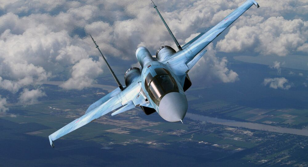 Sukhoi Su-34 in flight