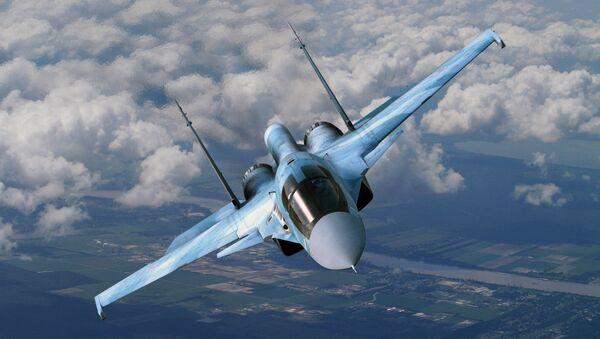 Sukhoi Su-34 in flight - Sputnik International