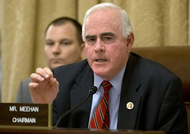 Rep. Patrick Meehan, R-Pa., speaks on Capitol Hill in Washington.