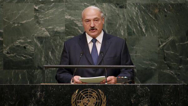 Belarus' President Alexander Lukashenko addresses a plenary meeting of the United Nations Sustainable Development Summit 2015 at the United Nations headquarters in Manhattan, New York - Sputnik International