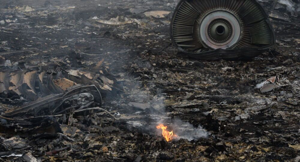 Boeing 777 crash site in Donetsk