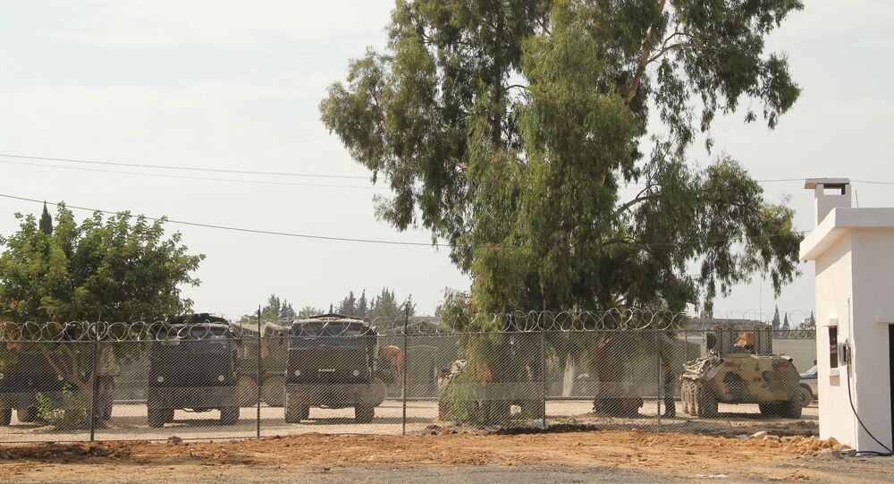 Russian soldiers at the Hmeymim base in Syria