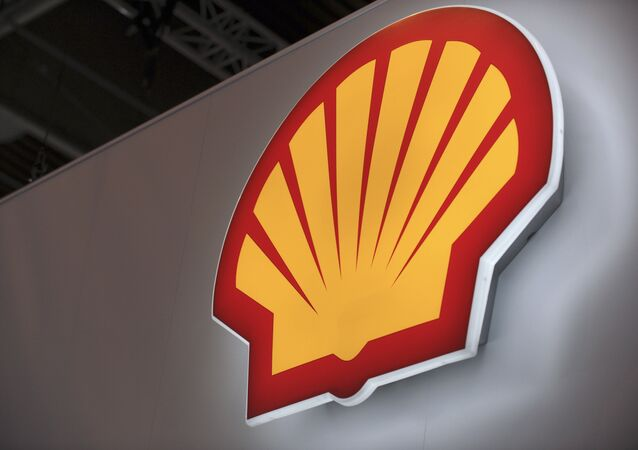 A picture shows the logo of Anglo-Dutch oil giant Shell.