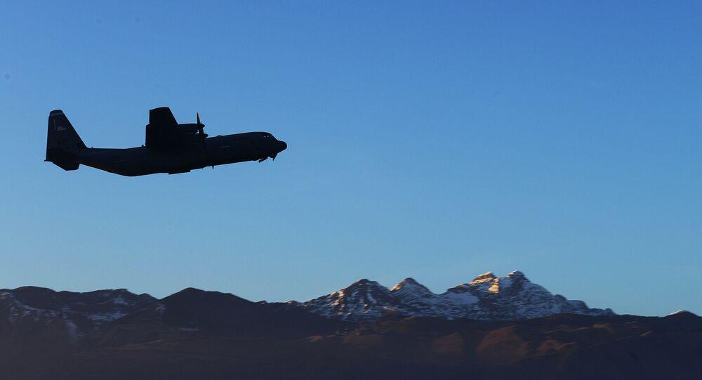 C-130 military transport plane.