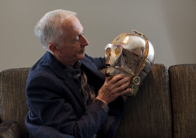Actor Anthony Daniels who portrayed the C-3PO droid in Star Wars.