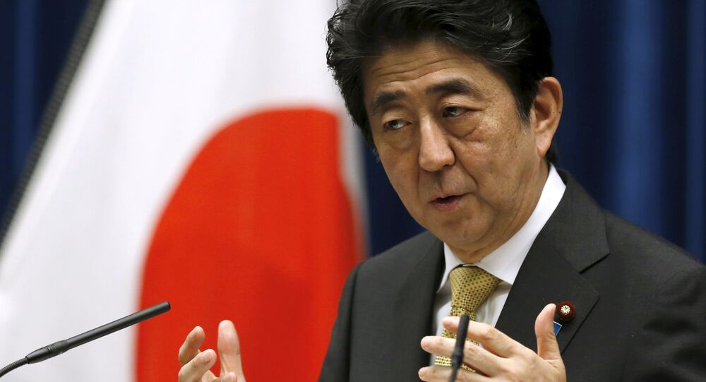 Japan's Prime Minister Shinzo Abe speaks during a news conference at his official residence in Tokyo September 25, 2015
