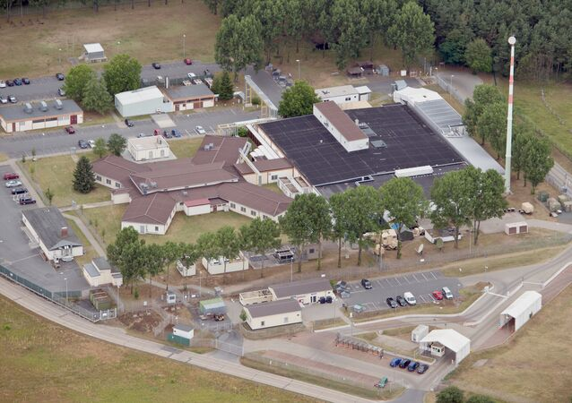 Picture made available July 8, 2014 shows an arial view of the 'Dagger Complex' in Griesheim near Darmstadt, Germany, 07 July 2014
