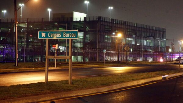 A sign for the U.S. Census Bureau headquarters campus. File photo - Sputnik International