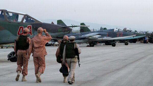 Russian warplanes at an airfield near Latakia - Sputnik International