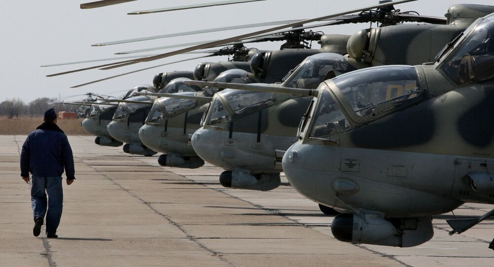 Mi-24 helicopters. File photo