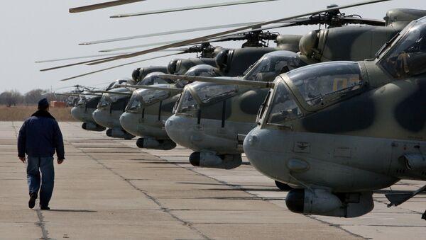 Mi-24 helicopters. File photo - Sputnik International
