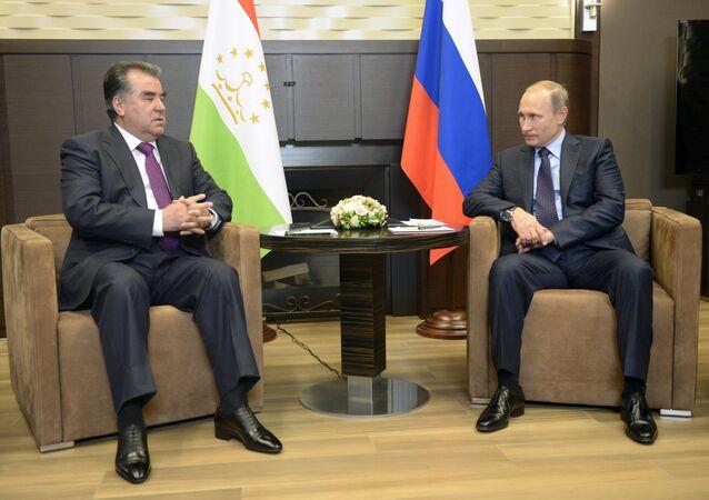 President Vladimir Putin's working meeting with Tajik President Emomali Rahmon