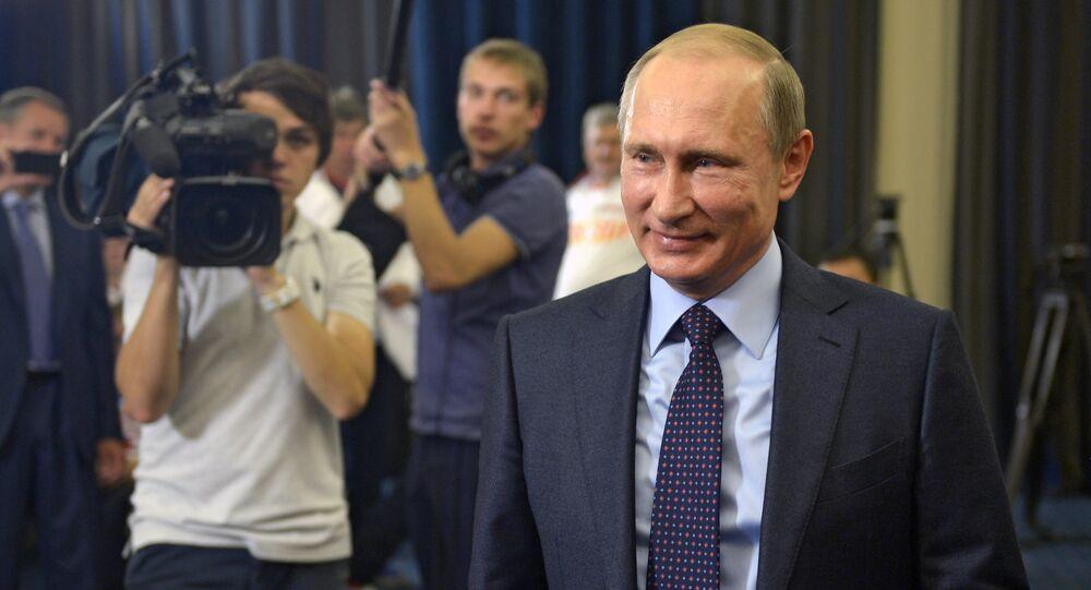 President Vladimir Putin meeting with winners of the 2015 International Wheelchair & Amputee Sports World Games, October 6, 2015.