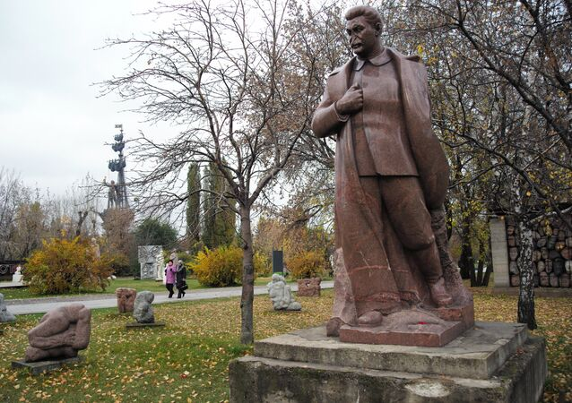Monuments to Soviet leaders in Muzeon Arts Park