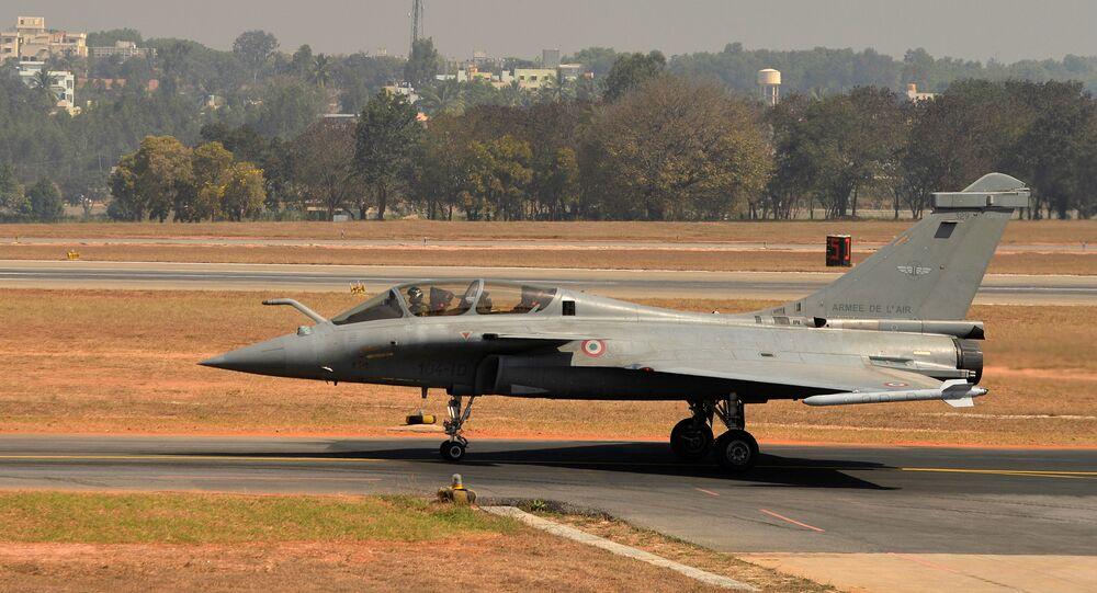 A Rafale multi-role combat aircraft